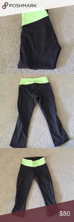 Worn twice Size 6 Lululemon crops Size 6 Lululemon crop pants. Bought from a fellow posher. She wore them twice and I have never worn them. Perfect condition.Feel free to make an offer, price is negotiable:) lululemon athletica Pants