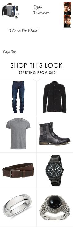 """""""Ryan Thompson Worlds Colliding (The Vampire Diaries) 8.14 """"I Can't Do Worse"""""""" by mysticfalls1997 ❤ liked on Polyvore featuring Snake & Dagger, Pretty Green, Belstaff, Steve Madden, HUGO, Invicta, Dallas Prince, GALA, men's fashion and menswear"""