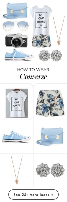 """Untitled #529"" by chloeecollins on Polyvore featuring Converse, ONLY, Ray-Ban, Sophie Hulme and Pamela Love"