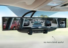 Large Rear View Mirror: Say goodbye to those blind spots. Get it, here. techlovedesign.com