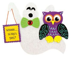 Nicole™ Crafts Ghost and Owl #kids #craft #halloween