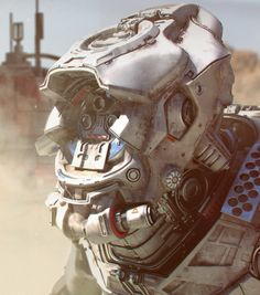 """alienspaceshipcentral: """"rhubarbes: """" Digital art by Tor Frick. """" From one science fiction lover to another…. Cyberpunk, Starwars, Futuristic Robot, Sci Fi Armor, Future Soldier, Mecha Anime, Suit Of Armor, Sci Fi Characters, Mechanical Design"""