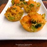 Broccoli Cheddar Rice Cups ~ Sumptuous Spoonfuls #healthy #snack #appetizer #recipe