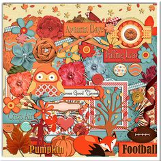 50% OFF TODAY Autumn Days Digital Scrapbook by DigiScrapDelights  #Scrapbooking #Fall #Autumn #Scrapbookingkits #DigiScrapDelights #Thanksgiving #Pumpkins #ClipArt