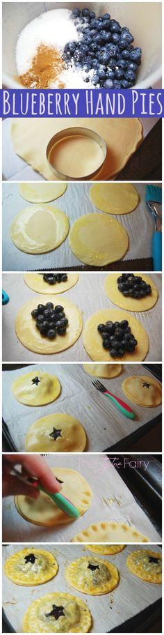 Starry Night Blueberry Hand Pies | The TipToe Fairy #blueberryrecipes