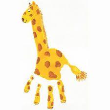 hand print animals - Google Search
