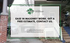 Get a free estimate of your masonry work.