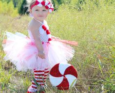 Beautiful Candy Cane Tutu Dress Headband and by AverysCoutureLook