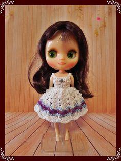 Vestido para muñecas Lati Yellow / Middie Blythe / Mini Mui Chan & Pukifee.