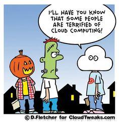 Cloud computing as a scary Halloween costume Social Media Humor, Social Media Marketing, Le Cloud, Tech Humor, Humor Humour, Cloud Computing Services, Computer Humor, Marketing Logo, Cloud Infrastructure