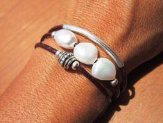 pearl bracelet, pearl jewelry, beaded Bracelet, women bracelets, silver bracelet, leather bracelet, jewelry, fashion jewelry, gift ideas. by kekugi on Etsy https://www.etsy.com/uk/listing/456840662/pearl-bracelet-pearl-jewelry-beaded