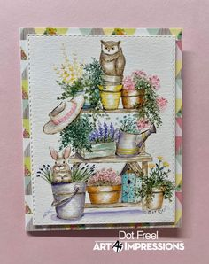 Watercolor Design, Watercolor Cards, Watercolour Painting, Art Impressions Stamps, Watercolour Tutorials, Copics, Craft Fairs, Cardmaking, Birthday Cards