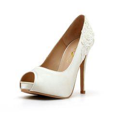 Hochzeit Schuhe Elfenbein weiße Hochzeits Heels von ChristyNgShoes
