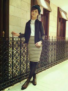 ショップスタッフ おーちゃん│Devinetteのスカートコーディネート-WEAR ボーダースカート コーデ 夏 skart tight stripe