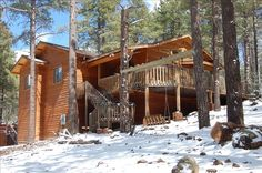 Flagstaff Vacation Rental - VRBO 238451 - 3 BR Canyon Country & Northeast Cabin in AZ, Luxury Cabin in the Pines on 3 Acres - Flagstaff/ Gra...