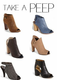 favorite peep-toe booties that will transition into spring!