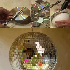 Just in case I ever need to know how to make a disco ball........