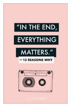 In the hunt for some cool posters from your favorite Netflix series 13 Reasons Why Have a look at our awesome 13 Reasons Why 3 poster collection. 13 Reasons Why Quotes, 13 Reasons Why Netflix, Thirteen Reasons Why, 13 Reasons Why Poster, Mr. Porter, 13 Reasons Why Aesthetic, Netflix Quotes, One Liner, Film Quotes