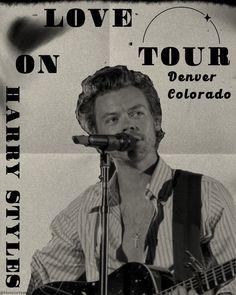 Tour Posters, Movie Posters, Harry Styles Pictures, Colorado, Tours, Fan Art, Love, Amor, Aspen Colorado