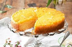 Peach melba upside-down cake main image Gourmet Recipes, Sweet Recipes, Baking Recipes, Dessert Recipes, Cake Recipes, Bubble Cake, Bake Sale Recipes, Peach Melba, Aussie Food