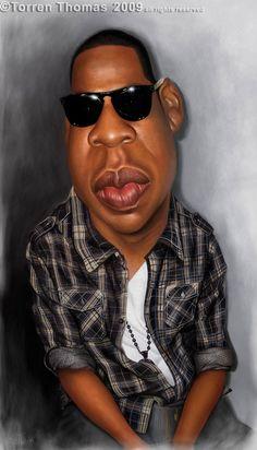 Caricatura de Jay-Z