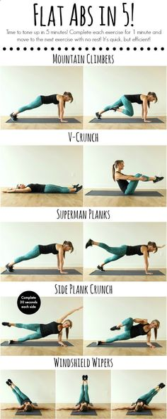 Belly Fat Workout - Tone up in 5 minutes with this quick and efficient ab workout! - Flat Abs in 5! | www.coovysports.com | #CoovySports. Do This One Unusual 10-Minute Trick Before Work To Melt Away 15+ Pounds of Belly Fat