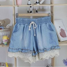 GET $50 NOW | Join RoseGal: Get YOUR $50 NOW!http://m.rosegal.com/shorts/stylish-splicing-stringy-selvedge-drawstring-denim-women-s-shorts-476659.html?seid=8086260rg476659