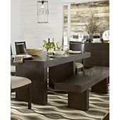 Garwood Dining Room Furniture Collection @ Macy's  7 piece ( table and 4 chairs and bench ) = $1800