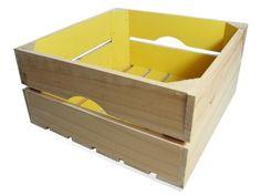 """Caja de madera de pino """"Cuadrada"""""""