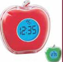 Talking Apple Shaped Clock (Imprintable with Name or Logo)