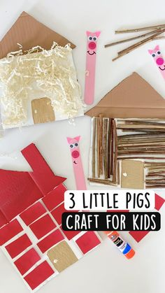 Art Activities For Toddlers, Preschool Learning Activities, Preschool Activities, Pig Crafts, Crafts For Kids, Toddler Art Projects, E Mc2, Little Pigs, Nursery Rhymes