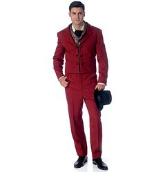 M7216, Men's Costumes interesting not that id buy it its sorta a cross between the early beatels and german folklore sorta teddy bot german minus the lieder hosen odd have no clue what time period it is nothing from the history I rember