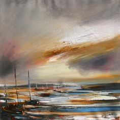 Ship Ashore by Scottish Contemporary Artist Rosanne Barr