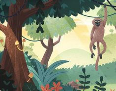A small series of likeable animal characters brought to life with subtly animating environments.