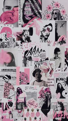 42 Ideas Fashion Collage Wallpaper Iphone For 2019 Tumblr Wallpaper, Moda Wallpaper, Pink Wallpaper, Screen Wallpaper, Wallpaper Backgrounds, Wallpaper Desktop, Wallpaper Ideas, Phone Backgrounds, Aesthetic Pastel Wallpaper