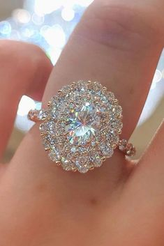 Halo Engagement Rings Or How To Get More Bling ❤ See more: http://www.weddingforward.com/halo-engagement-rings/ #weddings