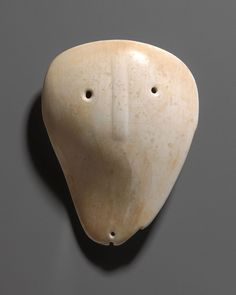 Shell Mask Gorget, ca. 1500-1700. North American Indian, Late Mississippian Culture