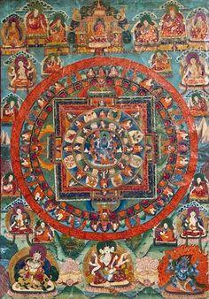 Rare Mandala Dharmapala Mahakala | Fine Chinese Works of Art ...