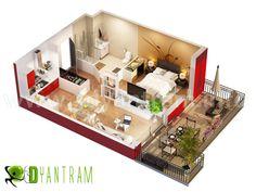 House 3d floor plan newyork #Floorplans