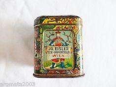 1900s Eisler Vienna early  tea sample tin very decorative item!