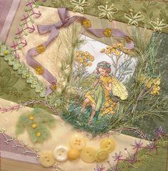 Flower Fairy crazy quilt. love the little fairy jacket!