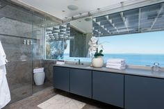 The bathroom in the Hidden Hills, CA, home J Lo shared with Marc Anthony (now on the market for $17 million) looks like it belongs in a posh spa rather than a private home! Description from azgossip.com. I searched for this on bing.com/images