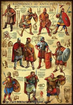 Thracian nobleman, top from right. Has lots of Greek lookng armour. Ancient Rome, Ancient Greece, Ancient History, Medieval Armor, Medieval Fantasy, Rome Antique, Roman Legion, Celtic Warriors, Armadura Medieval