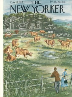 The New Yorker - Saturday, May 15, 1954 - Issue # 1526 - Vol. 30 - N° 13 - Cover by : Constantin Alajalov