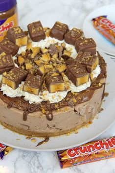 *This post may contain affiliate links. Please see my disclosure for more details!* A Creamy, Chocolatey, Sweet, and delicious No-Bake Chocolate Cheesecake using Cadbury's Crunchies, Crunchie. No Bake Chocolate Cheesecake, Cheesecake Recipes, Chocolate Cake, Toffee Cheesecake, Chocolate Work, Chocolate Heaven, Cheesecake Bites, Raspberry Cheesecake, Chocolate Factory