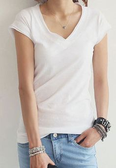 Scoop Neck Short Sleeve Solid Color T Shirt Tops