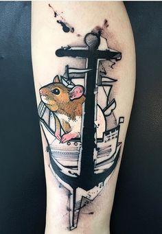 Bob Mosquito mouse tattoo