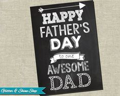 Printable FATHER'S DAY CARD  Chalkboard by GlitterAndShineShop, $3.00