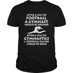 Cool Day of Football Day of Gymnastics Gymnast T-Shirt T-Shirts