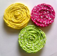 Colorful Rolled Rosette by Allwithhands on Etsy, $3.50